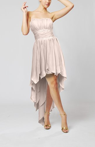 Cute Strapless Sleeveless Zip up Chiffon Paillette Party Dresses