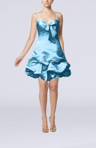 Modern Baby Doll Zip up Taffeta Mini Pick up Cocktail Dresses