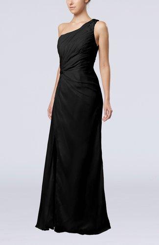 Elegant Column Sleeveless Backless Chiffon Evening Dresses