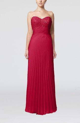 Elegant Column Sweetheart Sleeveless Backless Floor Length Wedding Guest Dresses