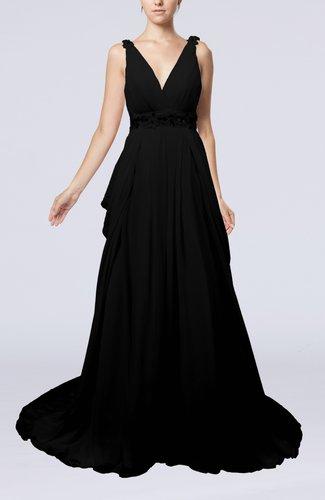 Elegant Garden A-line Sleeveless Backless Chapel Train Bridal Gowns