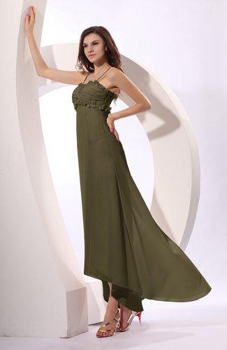Sexy Spaghetti Sleeveless Zip up Ruching Evening Dresses