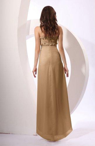 1cba37fabc Indian Tan Sexy Spaghetti Sleeveless Zip up Ruching Evening Dresses ...