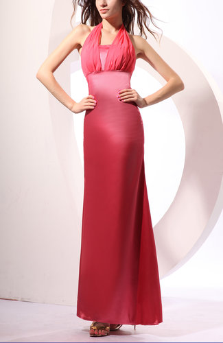 Sexy Sleeveless Zip up Floor Length Pleated Evening Dresses