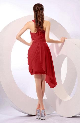 dd8e2daabe ... Plain A-line Asymmetric Neckline Sleeveless Chiffon Ruching Cocktail  Dresses
