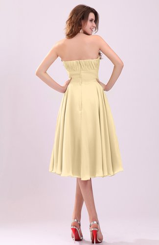 d29a2d29d6c Gold Simple A-line Sleeveless Backless Pleated Wedding Guest Dresses ...