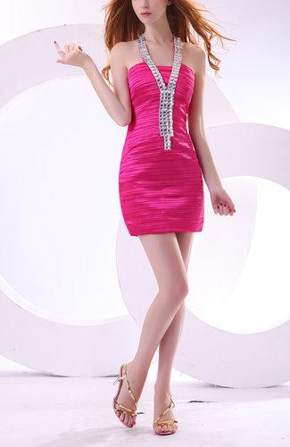 Casual Sheath Zipper Short Ruching Cocktail Dresses