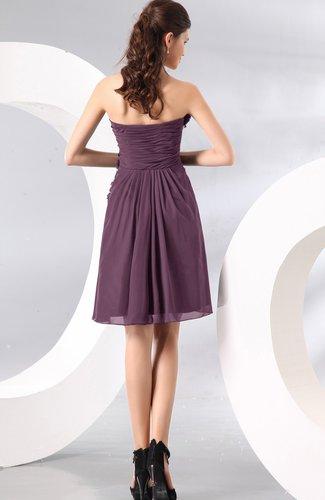 a4f6f1e5b1b ... Plain A-line Strapless Sleeveless Zipper Knee Length Homecoming Dresses