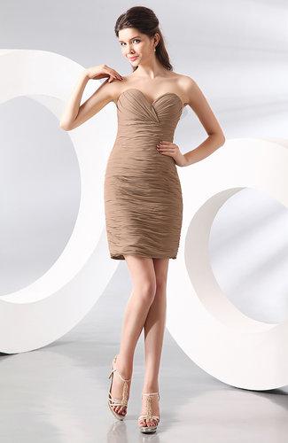 Sexy Column Sweetheart Zip up Chiffon Short Club Dresses