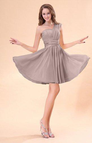 Cute A-line Sleeveless Mini Ruching Wedding Guest Dresses