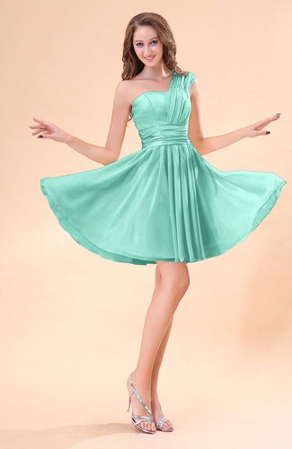 Cute A-line Sleeveless Mini Ruching Wedding Guest Dresses