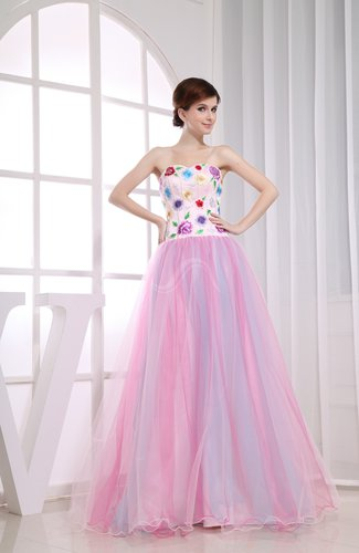 Cinderella A-line Sweetheart Backless Appliques Prom Dresses