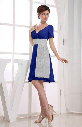 Hawaiian V-neck Short Sleeve Zip up Knee Length Party Dresses