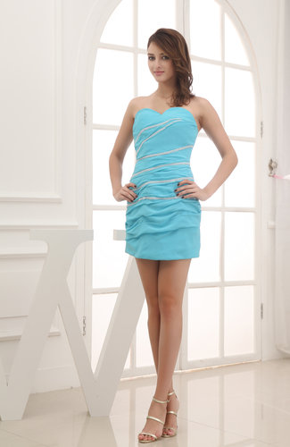 Elegant Column Sleeveless Zip up Short Pick up Bridesmaid Dresses