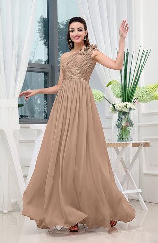 Classic A-line One Shoulder Sleeveless Zipper Sash Cocktail Dresses