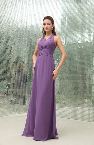 Modest Sheath Criss-cross Straps Chiffon Ruching Cocktail Dresses