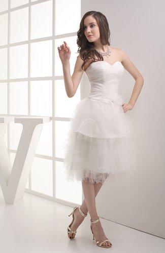 Hawaiian Hall Sweetheart Sleeveless Zip up Tea Length Bridal Gowns