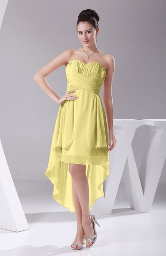Informal A-line Sweetheart Chiffon Ruching Bridesmaid Dresses