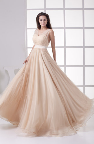 Vintage Outdoor Empire V-neck Floor Length Pleated Bridal Gowns