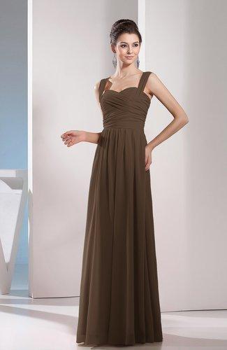 Cute A-line Chiffon Floor Length Ruching Bridesmaid Dresses