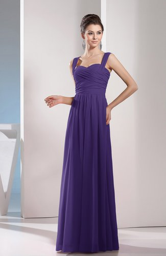 Cute A-line Chiffon Floor Length Ruching Bridesmaid Dresses