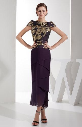 Elegant Off-the-Shoulder Short Sleeve Zip up Prom Dresses