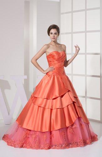 Romantic Princess Sweetheart Satin Rhinestone Quinceanera Dresses