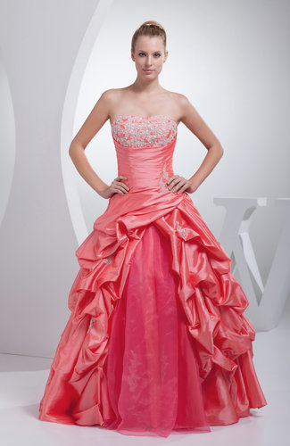 Disney Princess Princess Strapless Backless Floor Length Quinceanera Dresses