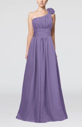 Cute A-line Asymmetric Neckline Sleeveless Chiffon Pleated Bridesmaid Dresses