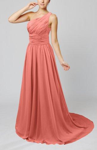 Cinderella Asymmetric Neckline Sleeveless Half Backless Court Train Bridesmaid Dresses