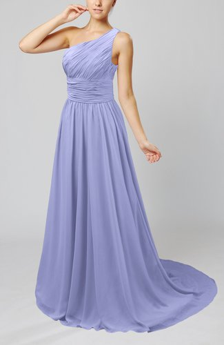Cinderella Asymmetric Neckline Sleeveless Half Backless Court Train Bridesmaid Dresses