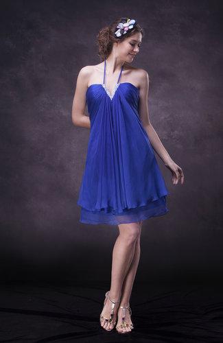 Informal Halter Sleeveless Mini Club Dresses