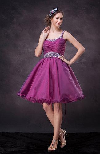 Casual A-line Asymmetric Neckline Sleeveless Lace up Bridesmaid Dresses
