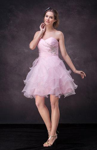 Cute A-line Sleeveless Backless Mini Appliques Wedding Guest Dresses