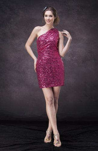 Modern Sheath Asymmetric Neckline Zipper Cocktail Dresses
