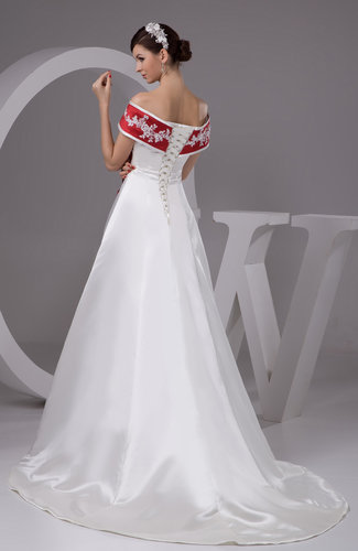 White With Sleeves Bridal Gowns Off The Shoulder Luxury