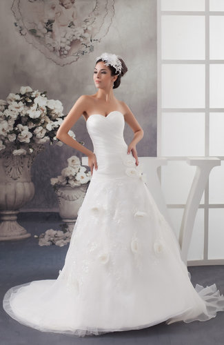 Sleeveless Bridal Gowns Unique Spring Low Back Strapless Backless A line