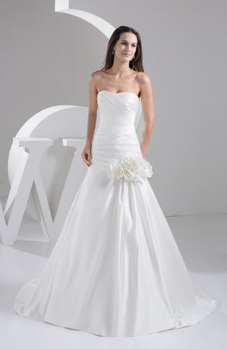 Inexpensive Bridal Gowns Fall Simple Summer Spring Open Back Classic Formal