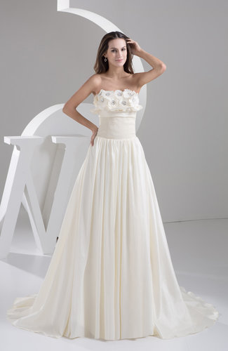 Inexpensive Bridal Gowns Western Strapless Full Figure Winter Formal