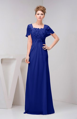 with Sleeves Bridesmaid Dress Chiffon Fall Casual Natural Outdoor A line