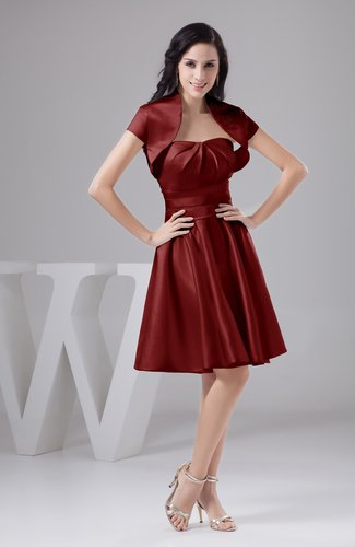Dark Red Inexpensive Bridesmaid Dress Affordable A line Plus Size Western  Autumn