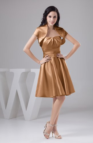 Light Brown Inexpensive Bridesmaid Dress Affordable A line Plus Size  Western Autumn