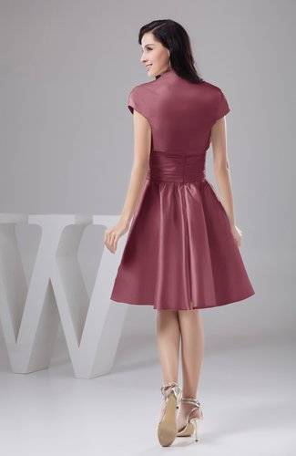 Wine Inexpensive Bridesmaid Dress Affordable A line Plus Size Western Autumn
