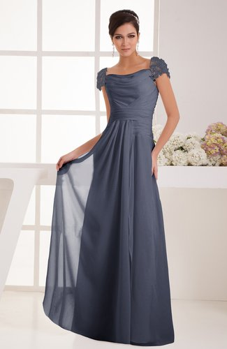 with Sleeves Bridesmaid Dress Chiffon Trendy Floor Length Amazing Classic