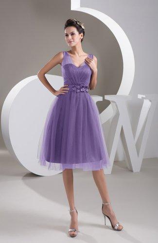 Inexpensive Bridesmaid Dress Short Sheer Knee Length Informal Elegant