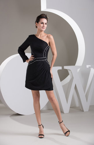 with Sleeves Bridesmaid Dress One Shoulder Traditional Gothic Chic Fashion