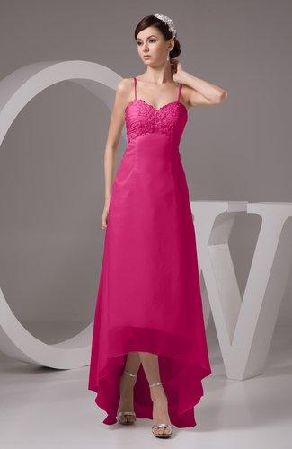 527918b42a153 Beetroot Purple Chiffon Bridesmaid Dress Tea Length Natural Chic Open Back  Backless Autumn