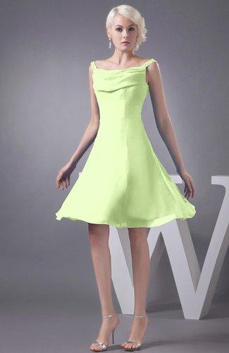Chiffon Bridesmaid Dress Short Winter Fall Formal Casual Chic for Less