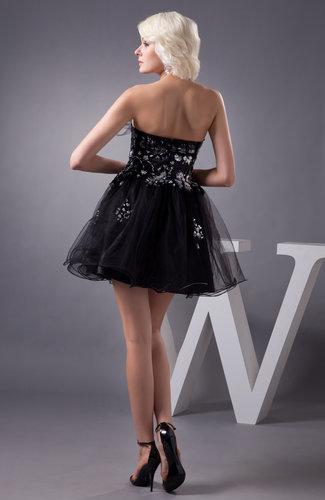 Black Country Bridesmaid Dress Short Baby Doll Mini Pretty