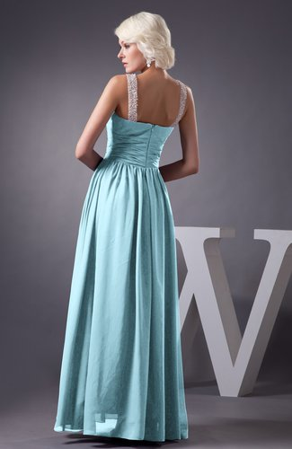 Aqua Chiffon Bridesmaid Dress Country Chic Summer Simple Plus Size Western